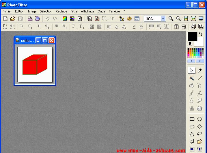 [Tuto PhotoFiltre] Photos sur cube 1175361376-cube4