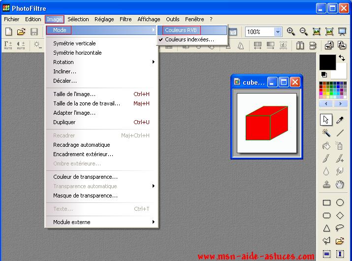 [Tuto PhotoFiltre] Photos sur cube 1175361469-cube5